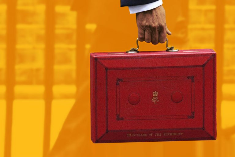 Red Briefcase for Budget