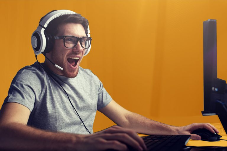 man plays video game in Esports